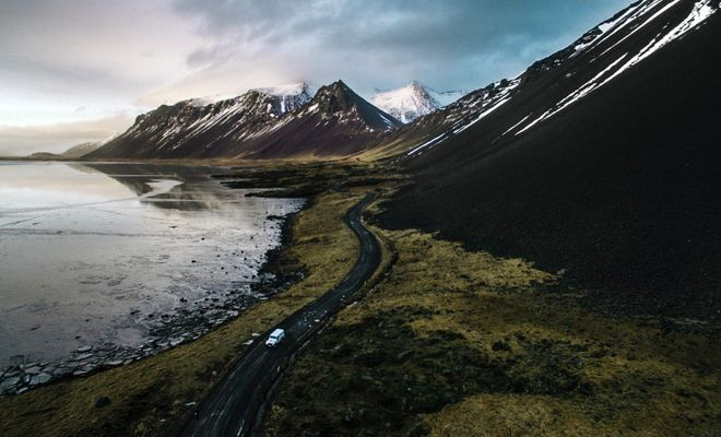 Glaciers, volcanoes, fjords, geysers, black sand beaches, lava fields, and more.